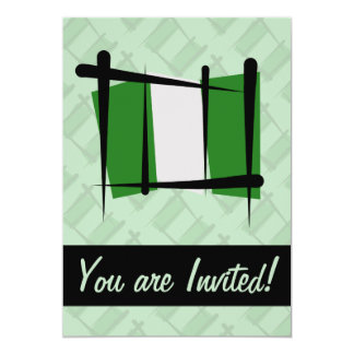 Nigeria Brush Flag Card