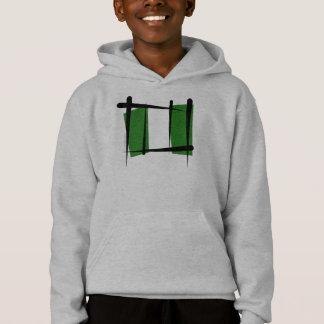 Nigeria Brush Flag Hoodie