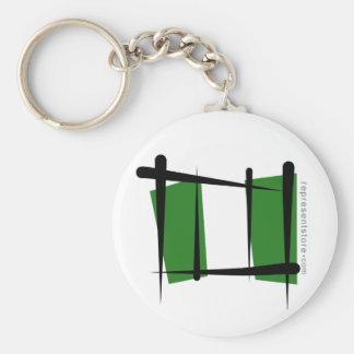 Nigeria Brush Flag Key Chains
