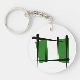 Nigeria Brush Flag Keychain