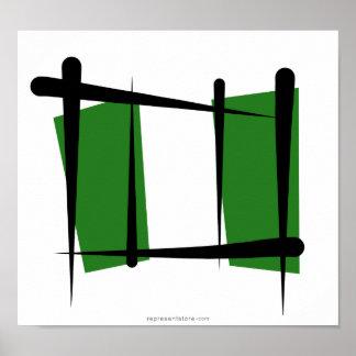 Nigeria Brush Flag Poster