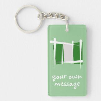 Nigeria Brush Flag Rectangle Acrylic Keychains