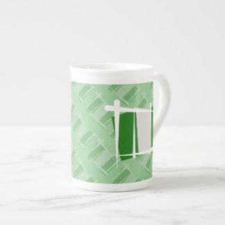 Nigeria Brush Flag Tea Cup