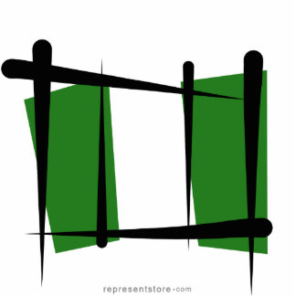 Nigeria Brush Flag Statuette