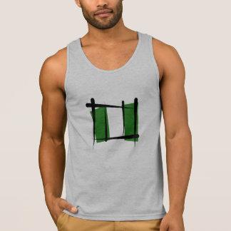 Nigeria Brush Flag Tank Top