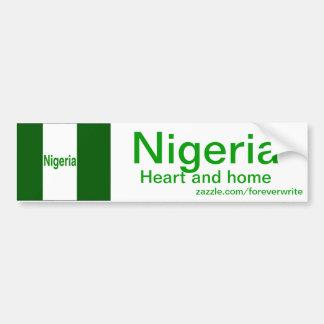 Nigeria Pegatina Para Auto