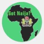 Nigeria, camiseta de África y etc Pegatina Redonda