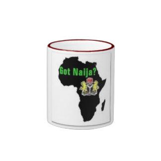 Nigeria, camiseta de África y etc Taza De Dos Colores