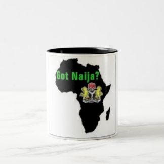 Nigeria, camiseta de África y etc Taza De Dos Tonos