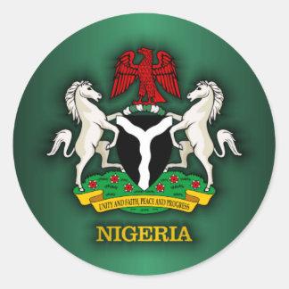 Nigeria COA Classic Round Sticker
