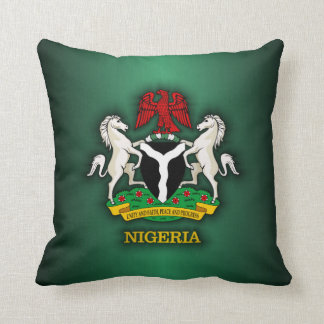 Nigeria COA Throw Pillow