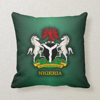 Nigeria COA Throw Pillow