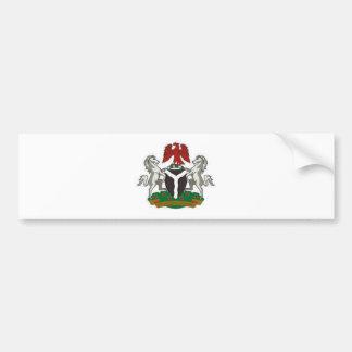 Nigeria Coat of Arms Bumper Sticker