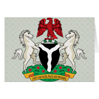Nigeria Coat of Arms detail Greeting Card