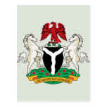 Nigeria Coat of Arms detail Post Cards