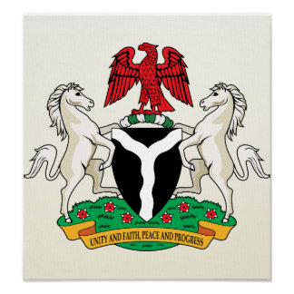 Nigeria Coat of Arms detail Poster