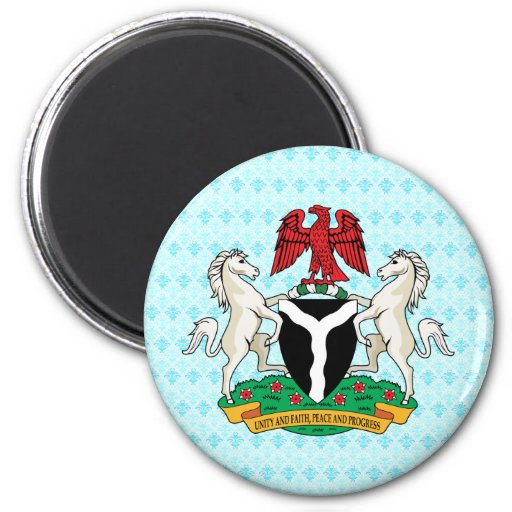 Nigeria Coat of Arms detail Refrigerator Magnets