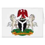 Nigeria Coat of Arms Greeting Card