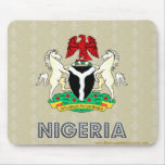 Nigeria Coat of Arms Mouse Pads