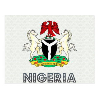 Nigeria Coat of Arms Post Card