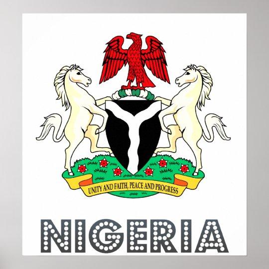 Nigeria Coat of Arms Poster