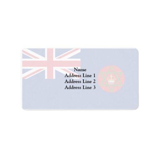 Nigeria colonial británico, Nigeria Etiquetas De Dirección