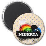 Nigeria con sabor a fruta lindo imán para frigorifico