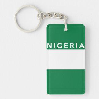 nigeria country flag symbol name text rectangular acrylic key chain