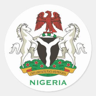 Nigeria - Crest Round Sticker