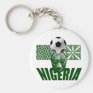 Nigeria cultural soccer football artwork gifts basic round button keychain