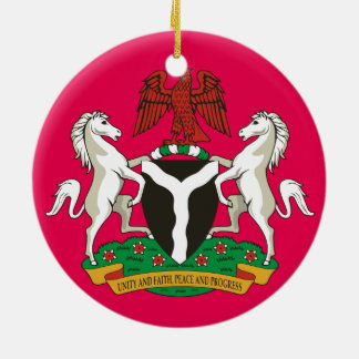 Nigeria- Custom Porcelain Christmas Ornament