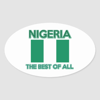 Nigeria Design Oval Sticker