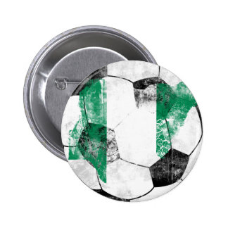 Nigeria Distressed Soccer 2 Inch Round Button