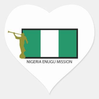 NIGERIA ENUGU MISSION LDS CTR HEART STICKER