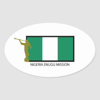 NIGERIA ENUGU MISSION LDS CTR OVAL STICKER