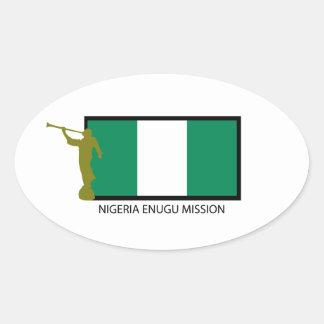 NIGERIA ENUGU MISSION LDS CTR OVAL STICKER