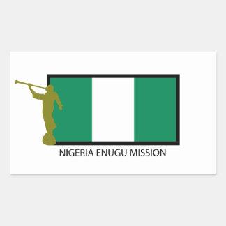NIGERIA ENUGU MISSION LDS CTR RECTANGULAR STICKER