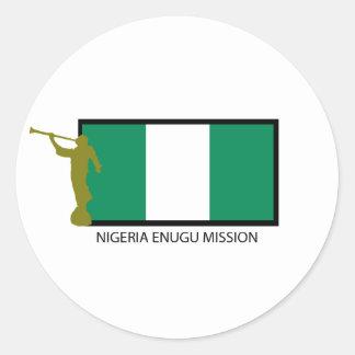 NIGERIA ENUGU MISSION LDS CTR ROUND STICKERS
