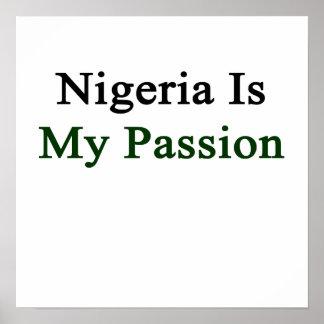 Nigeria es mi pasión póster