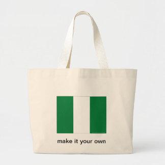 Nigeria flag canvas bags