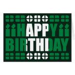 Nigeria Flag Birthday Card