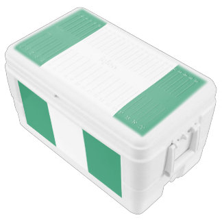 Nigeria flag chest cooler