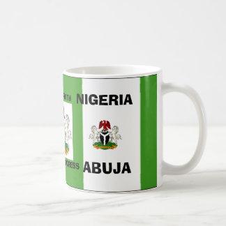 nigeria flag copy, Nigeria_coa, nigeria flag co... Coffee Mug