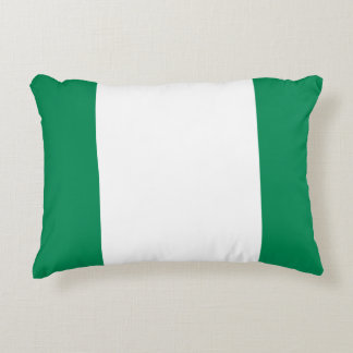 Nigeria Flag Decorative Pillow