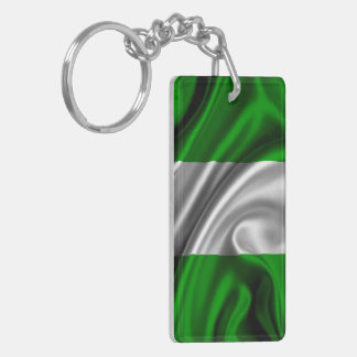Nigeria Flag Fabric Acrylic Key Chains