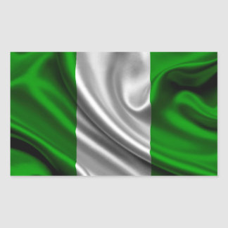 Nigeria Flag Fabric Rectangular Sticker