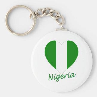 Nigeria Flag Heart Key Chains