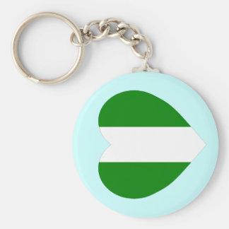 Nigeria Flag Heart Keychains
