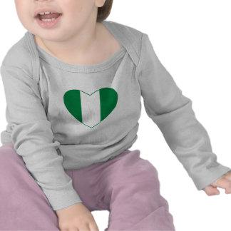 Nigeria Flag Heart T-Shirt