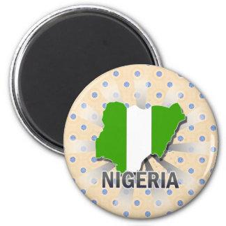 Nigeria Flag Map 2.0 Magnets